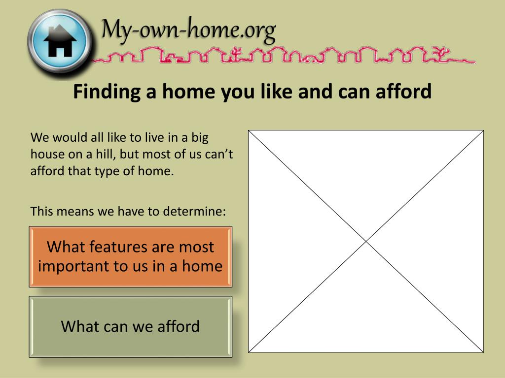 Finding a home you like and can afford