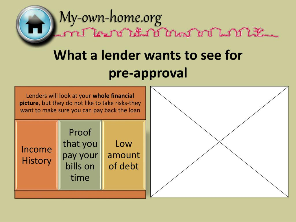 What a lender wants to see for
