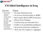 us allied intelligence in iraq