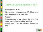 technical course structure 1 of 2