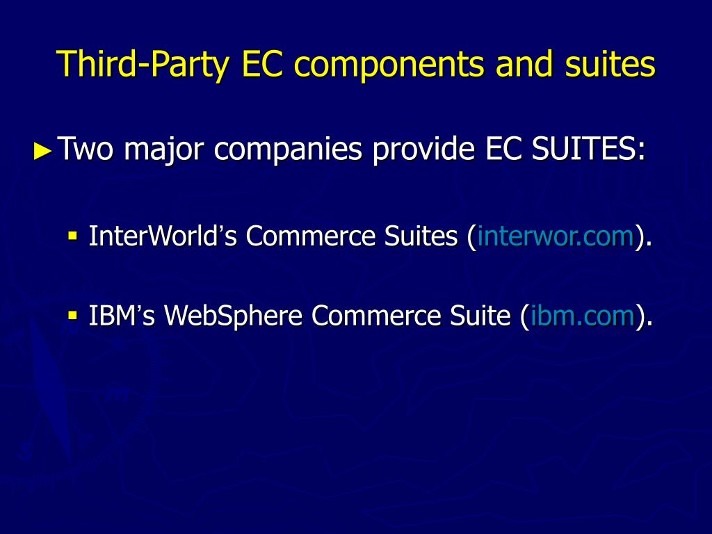 Third-Party EC components and suites