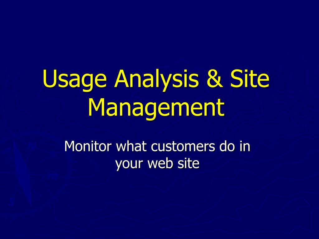 Usage Analysis & Site Management