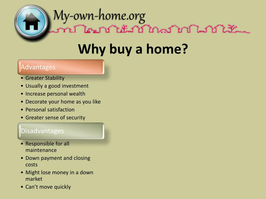 Why buy a home?