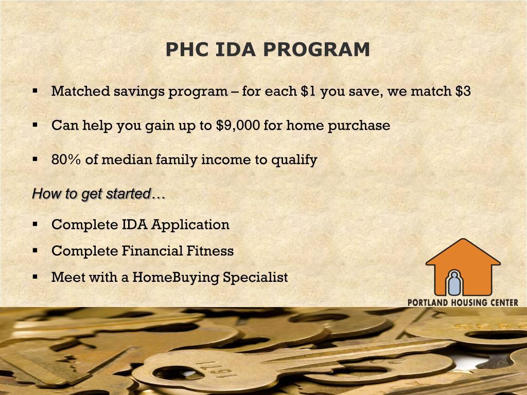 PHC IDA PROGRAM