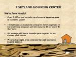 portland housing cente r