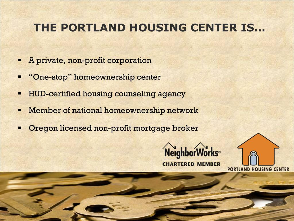 THE PORTLAND HOUSING CENTER IS…