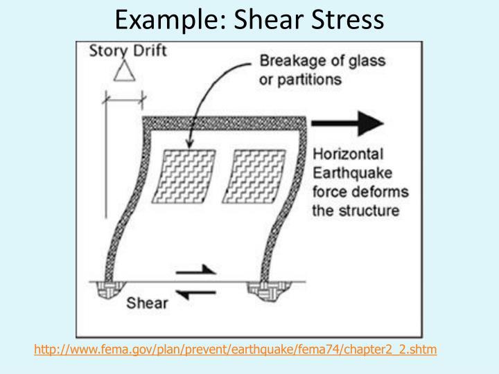 Example: Shear Stress