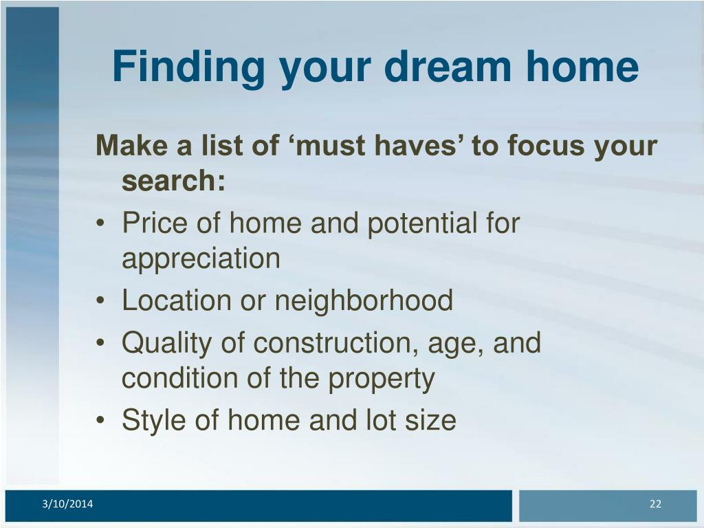 Finding your dream home