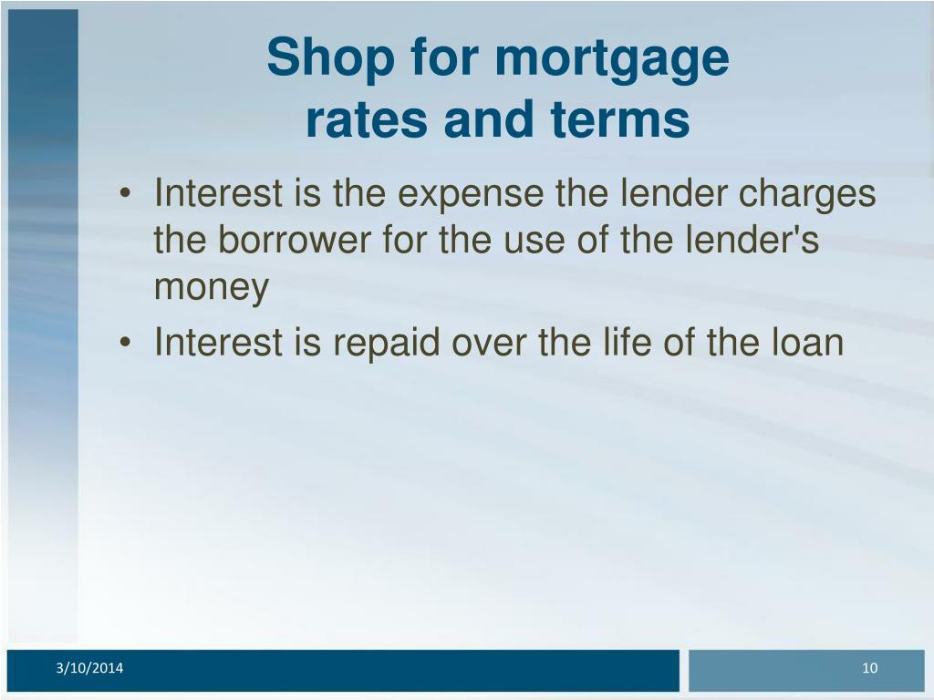 Shop for mortgage