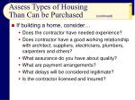 assess types of housing than can be purchased18