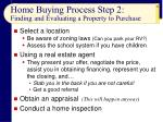 home buying process step 2 finding and evaluating a property to purchase