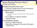 home buying process step 3 pricing the property