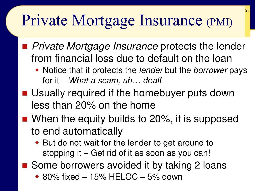 Private Mortgage Insurance