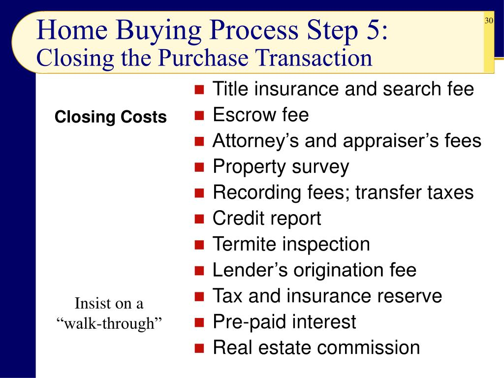 Home Buying Process Step 5: