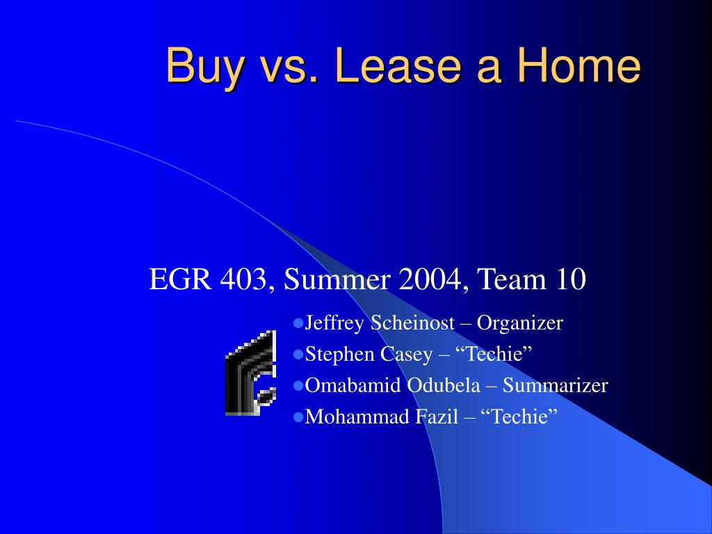 buy vs lease a home l.