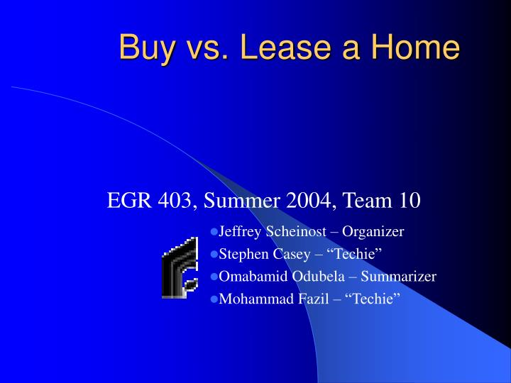 Buy vs lease a home
