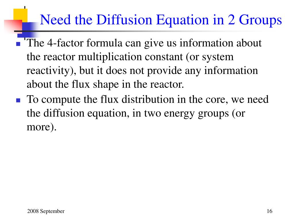 Need the Diffusion Equation in 2 Groups