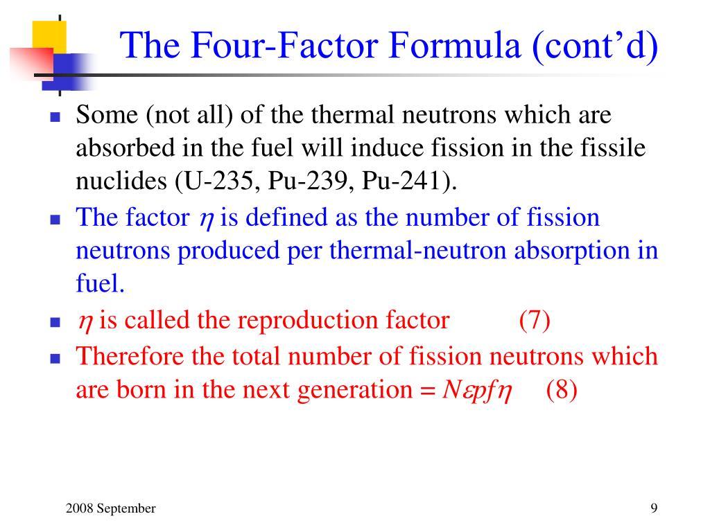 The Four-Factor Formula (cont'd)