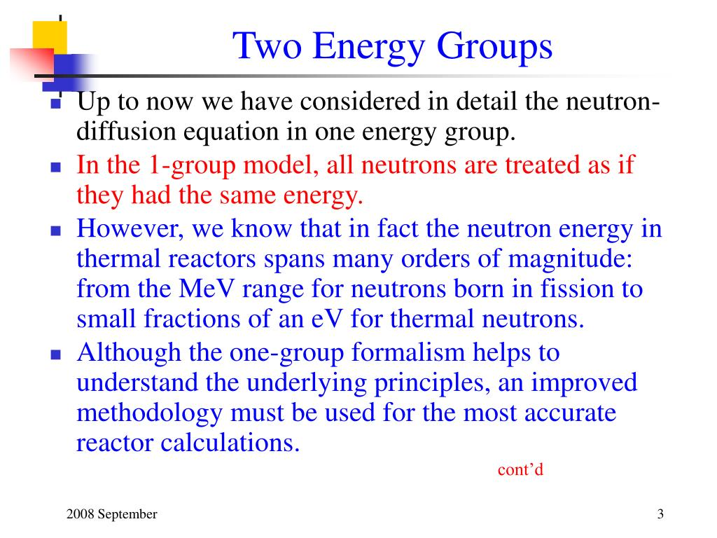 Two Energy Groups
