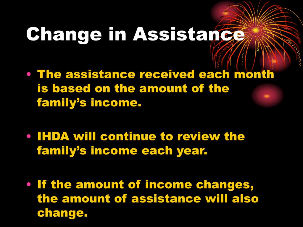 Change in Assistance