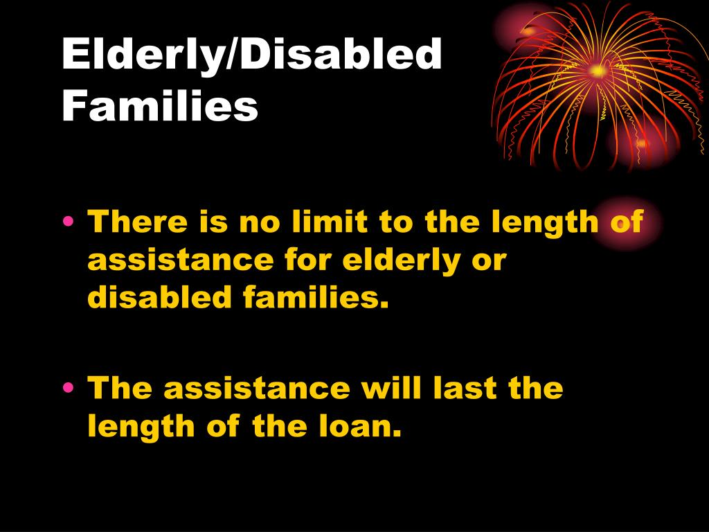 Elderly/Disabled Families