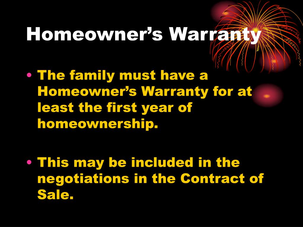 Homeowner's Warranty