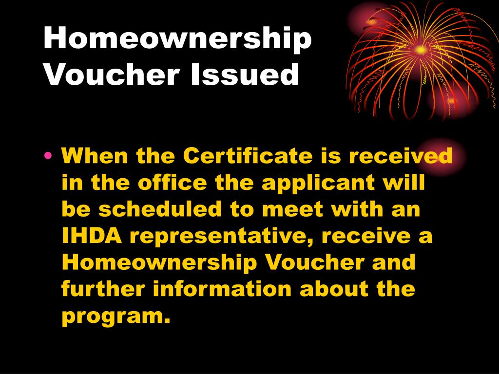 Homeownership Voucher Issued