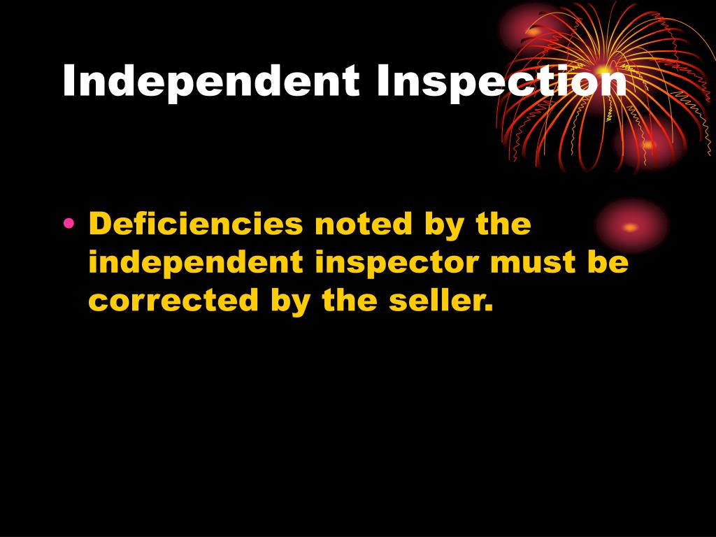 Independent Inspection