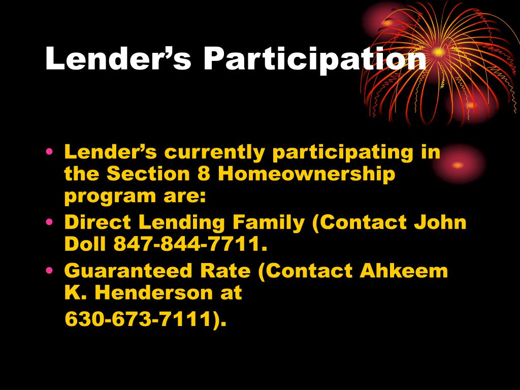 Lender's Participation