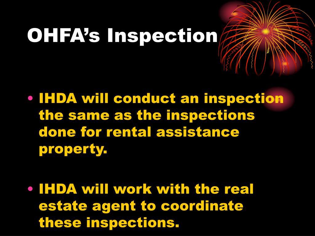 OHFA's Inspection