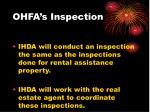 ohfa s inspection