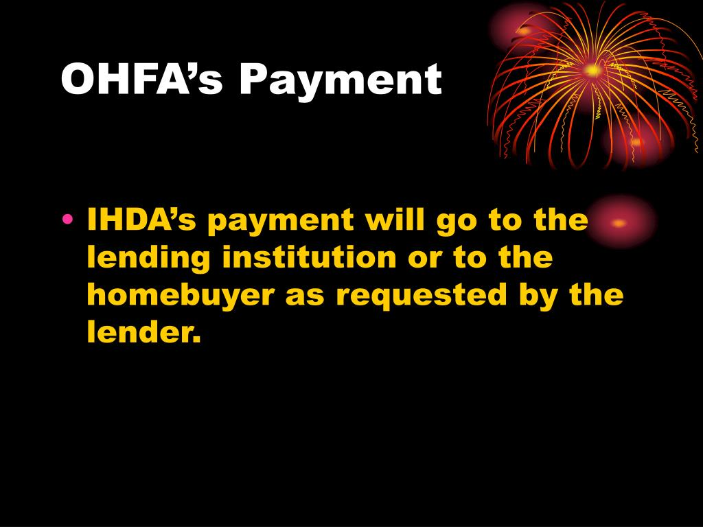 OHFA's Payment