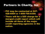partners in charity inc