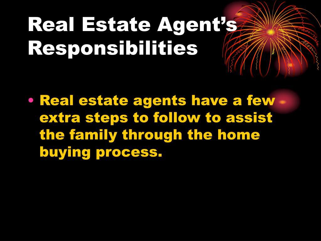 Real Estate Agent's Responsibilities