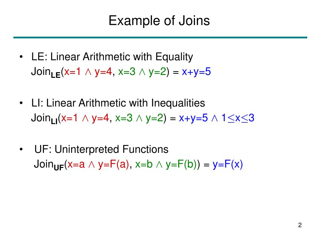 Example of Joins