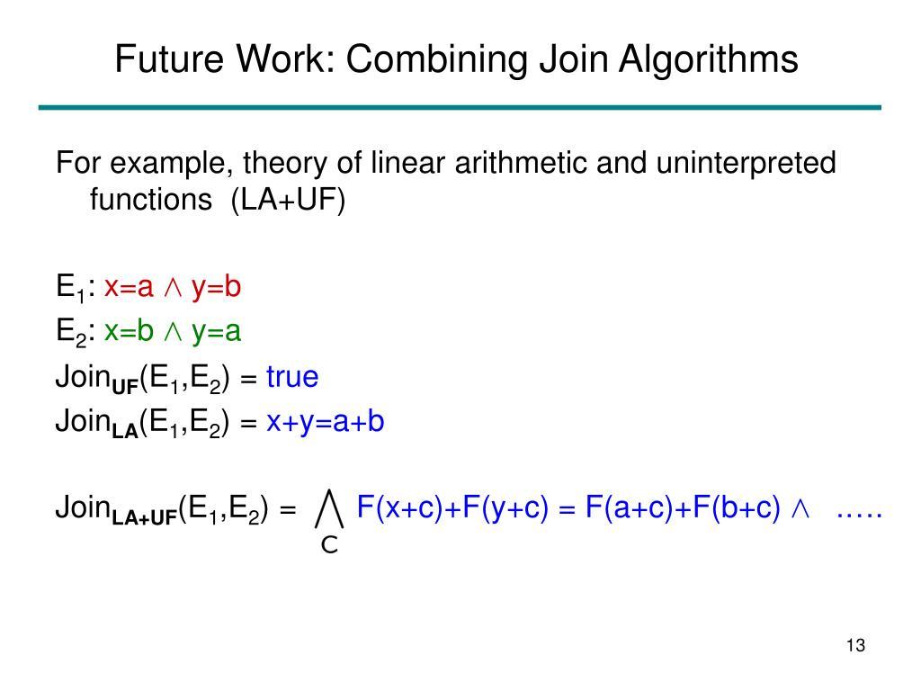 Future Work: Combining Join Algorithms