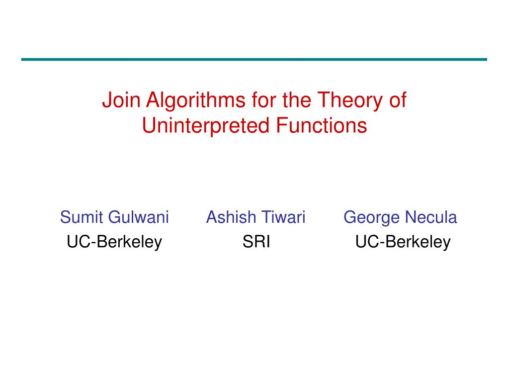 Join Algorithms for the Theory of Uninterpreted Functions