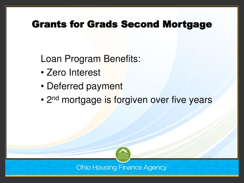 Grants for Grads Second Mortgage