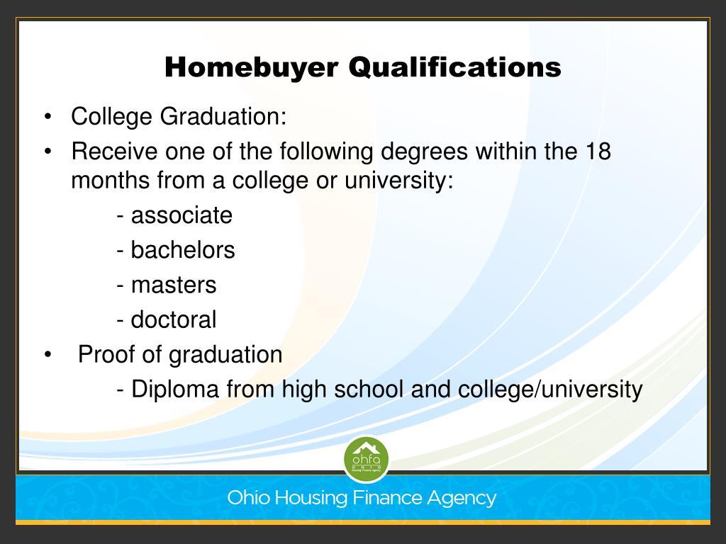 Homebuyer Qualifications