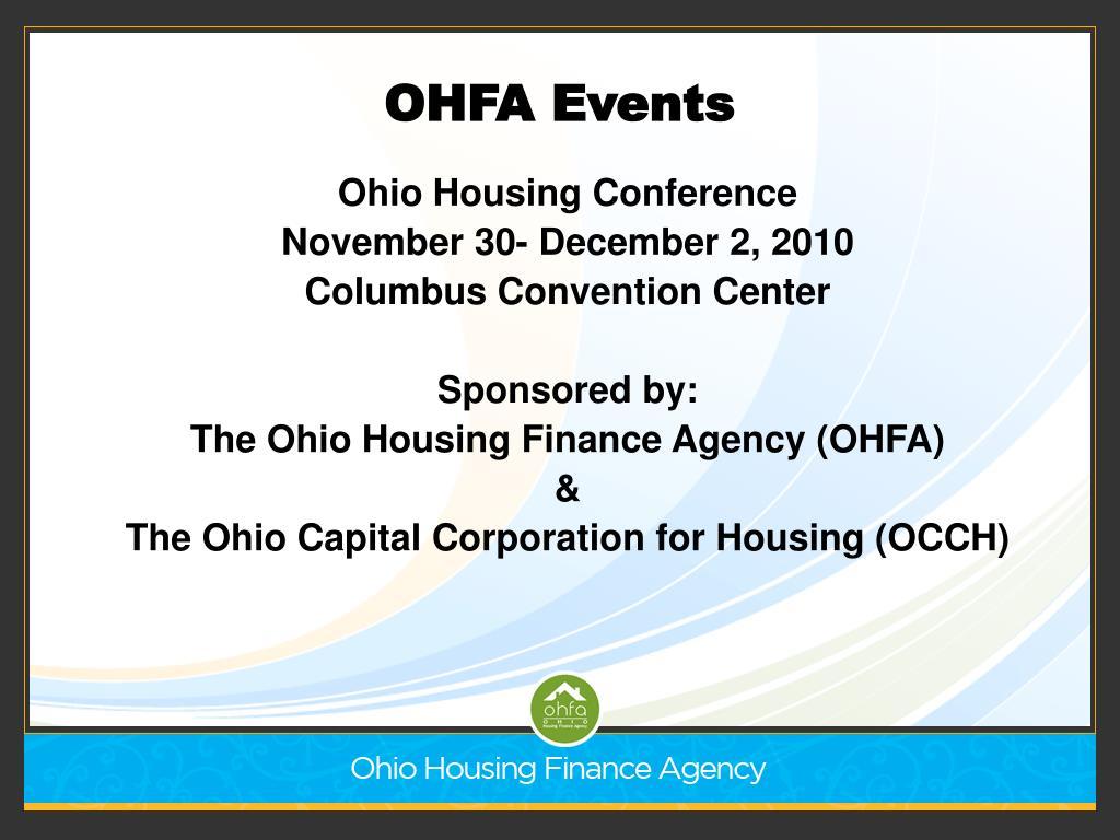 OHFA Events