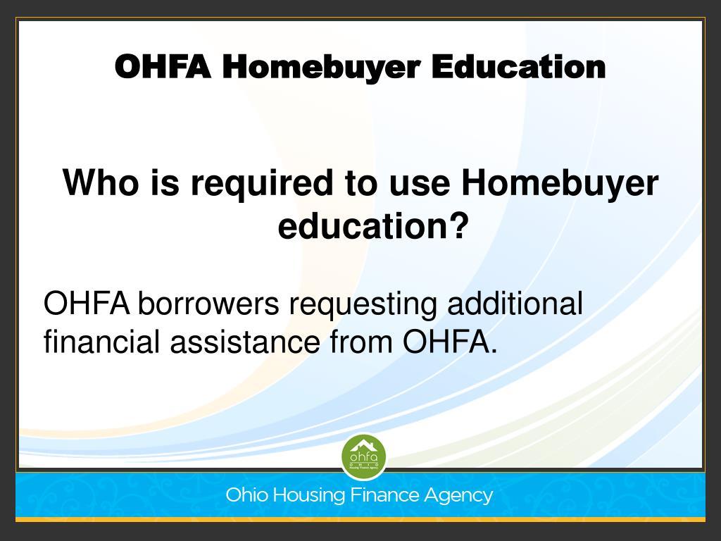OHFA Homebuyer Education