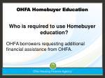 ohfa homebuyer education49