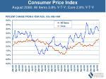 consumer price index august 2006 all items 3 8 y t y core 2 8 y t y