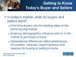 getting to know today s buyer and sellers