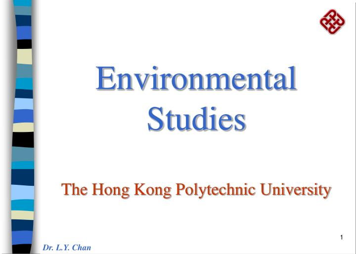 environmental studies the hong kong polytechnic university n.