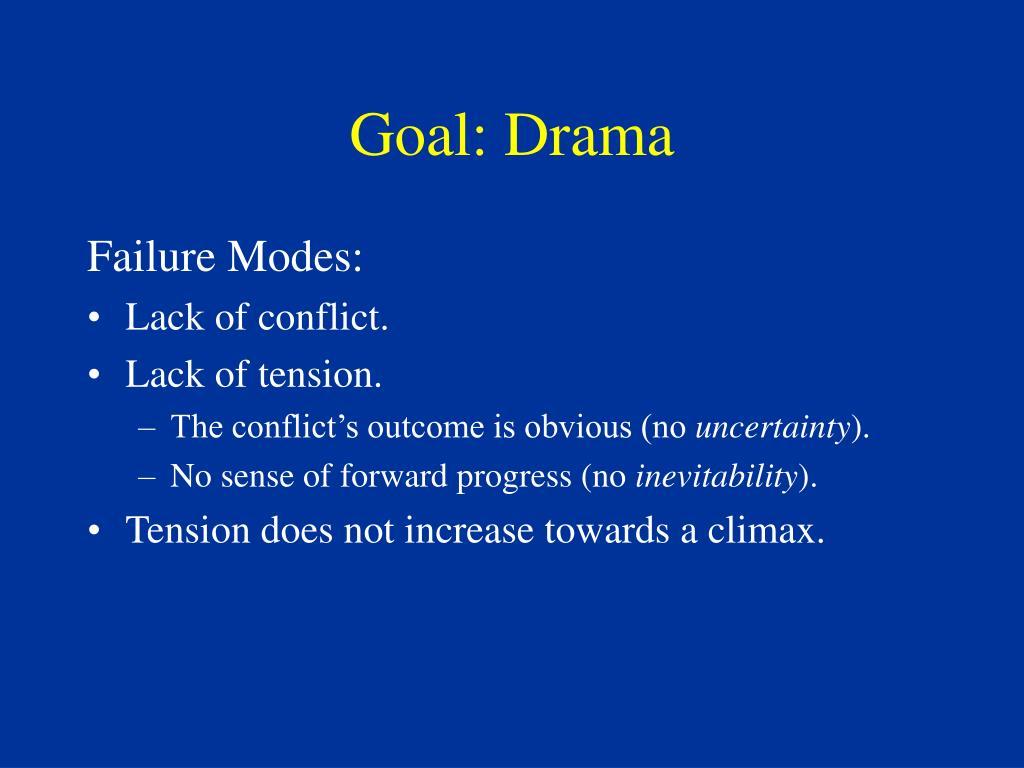 Goal: Drama