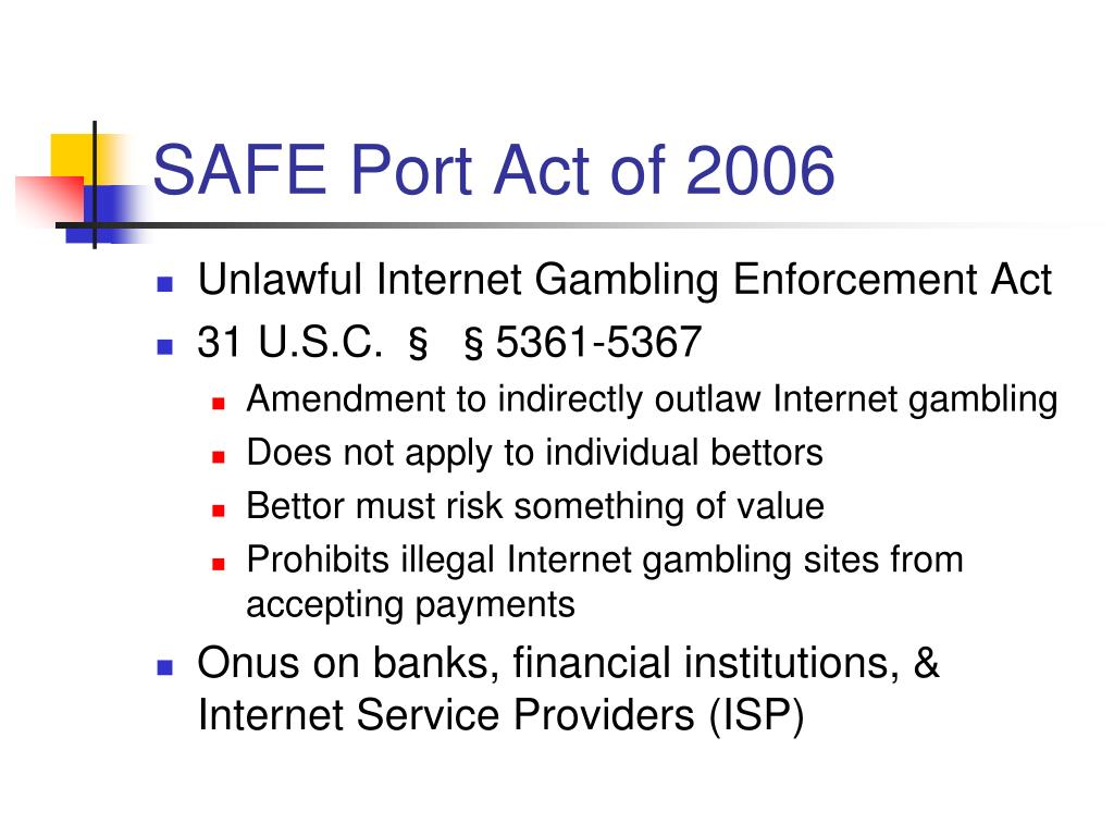SAFE Port Act of 2006