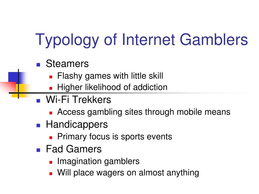 Typology of Internet Gamblers