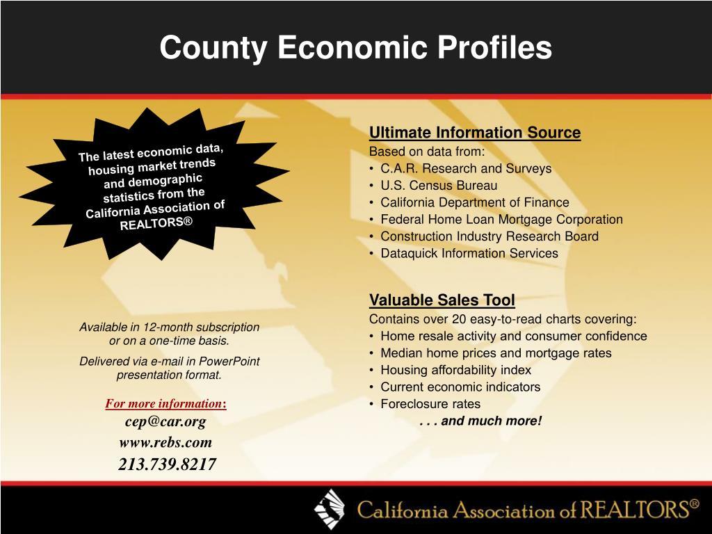 County Economic Profiles