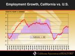 employment growth california vs u s
